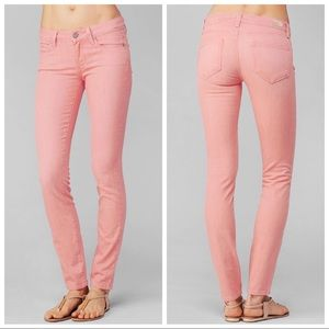 NWT Paige Pink Verdugo Ultra Skinny Mid Rise Jeans